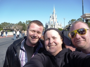 Oss i Magic Kingdom! Obligatorisk foran slottet bildet!