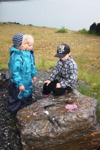 To ganske imponerte smågutta høre på når Remi fortell om fisken