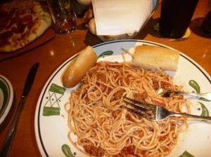 Spaghetti på bolgonese Olive Garden