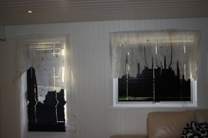 Nytt i år..vi har fikset gardiner..