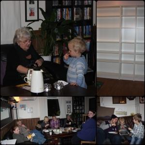 Februar Mamma kommer for å passe ungan, har tupperwareparty, e i bursdag og kjøpe bokhylle til rommet.