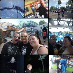 Februar USA!!! SeaWorld, Shamushow, Manta, Kraken, Shark Encounter, Vant Bamse.