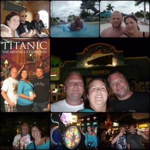 Februar USA!!! Titanic Museum, D&B (dave and busters) Aquatica, I-Trolley, Minigolf