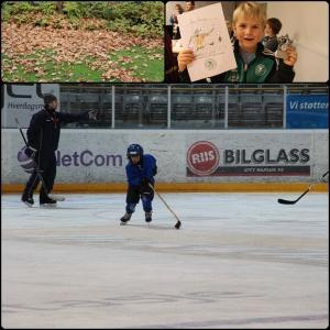 Oktober. Remi har fotballavslutningsfest, begynner på Hockey og det er høst!