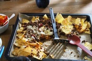 Kl 16.30, taco rester til middag!