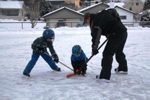 Hockey på lekeplassen..Dropp