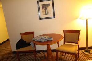 Spisekroken på hotellrommet