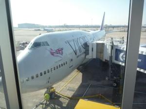 Her e flyet som ska ta oss til USA