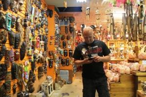 Inne på en Native American shop..