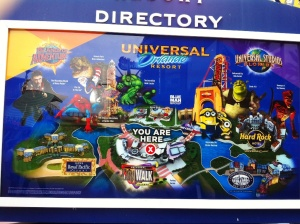 I'm not there..I  wish...  Kart over Universal, Island of Adventures og  CityWalk.