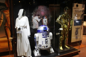 Princess Leia Costume, Star Wars Episode IV, A new Hope, R2-D2 costume Star Wars Episodes IV-VI, C-3PO Costume Episode III, Revenge of the Sith.