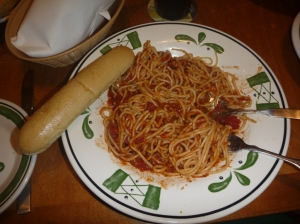 Min pasta bolognese og selvfølgelig brød!!