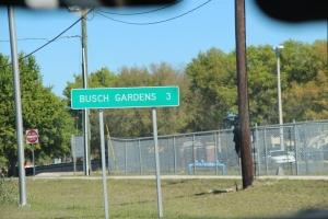 Snart framme i Busch Gardens!