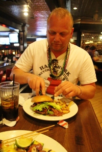 Middag på Fridays, Burger.