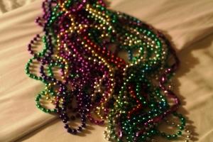 Litt av perlefangsten fra Mardi Gras Paraden!