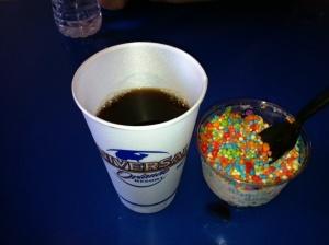 Kaffe og dippin dots! (veldig kalde iskuler!)