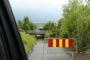 Kl 14.30, det e litt høy vannstand i Hamar om dagen..