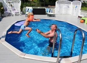 En som ikke e redd for 20 grader i vannet!