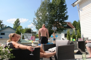 Heidi har en virkelig fin terrasse! ;D