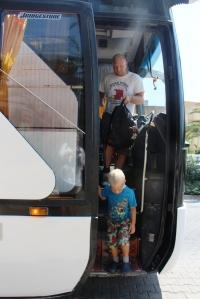 Hopper av bussen utenfor Cosmopolitan Resort