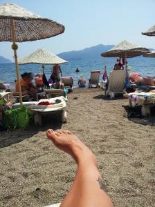 Obligatorisk fotbilde på stranda...