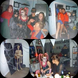 Rødhette, Catwoman, Day of the Dead, Fallen Engel, Martine og han blonde fra Baywatch! Han baywatch duden og supergirl me supertrusa, Han lille i hjørnet i kista