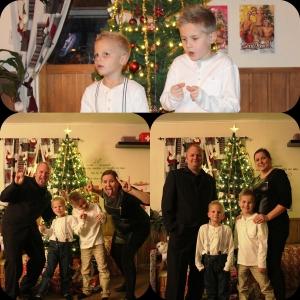 Gærning familien posere som vanlig foran juletreet på julaften!