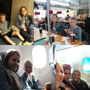Vi møtte Malin på Gardermoen og fløy Norwegian til Orlando. Landa 1,5 time Før tida! :D