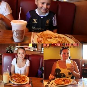 Og selvfølgelig litt frokost på Denny's. Superbird med Seasoned Fries. og Sandwich på Remi.