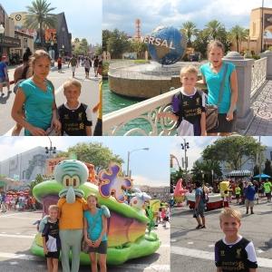 Jaggu rakk vi en tur innom Universal Studios også på første dagen, skulle egentlig bare hente billettene. Men vi traff noen i gjengen fra Svampebob.