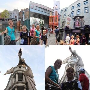 Men mest av alt så vi i den nye delen av Universal, nemlig London fra Harry Potter. Med Diagon Alley! Og en kul ride i Escape from Gringotts.