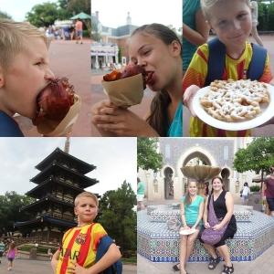 Var også innom Marokko og Japan. (og tyskland og the American Adventures) Prøvde oss på et Turkeyleg og litt Funnelcake.