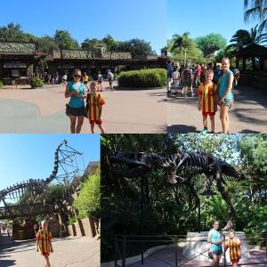 Før turen gikk til Animal Kingdom. Hvor vi først var i Dinoland.