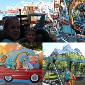 Kjørte karusell, Primeval Whirl. Og der så vi endelig Mount Everest.