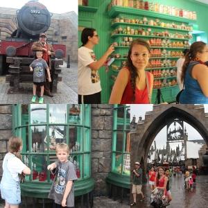 Så stakk vi innom Harry Potter igjen. Shoppa litt godis og hilste på Lokføreren.