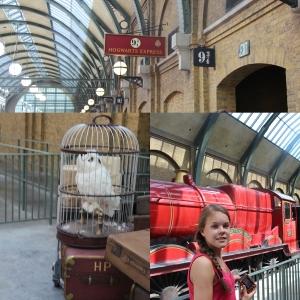 Og vi tok toget fra Kings Cross plattform 9 3/4 til Hogwarts.