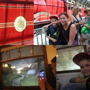 På plattform 9 3/4 og på toget.
