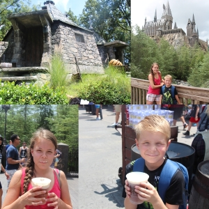 Her bor Hagrid. Og de fikk smake Butterbeer (Smørterøl) Yummy...NOT