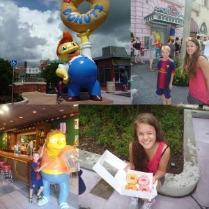 Springfield! HEr kjøpte vi Donuts, var innom Moe's og Krusty Burger. Så også ett par av familien Simpson.