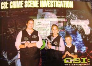 Var innom CSI the Experience og løste en sak. Diana drepte Penny...