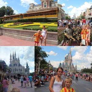 Welcome to Disne's Magic Kingdom! Nå begynte vi å bli slitne... Så slottet, tok bilde, tok ett par karueseller og dro igjen...