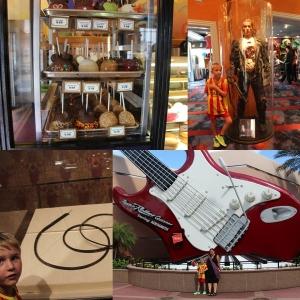 Glaserte epler... :D Litt fancy.. Pisken til Indy, Remi og The Terminator og Vi foran The Rock'n'Roller Coaster starring Aerosmith!