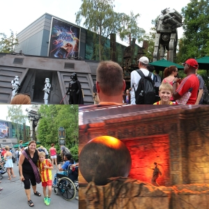 Mere Star Wars og Star Tours og litt fra Indiana Jones Stunt Spectacular.