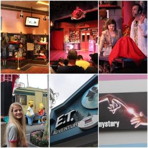 Hollywood Horror Make Up show. Lisa, Homer og Bart! :) E.T phone home...