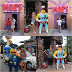 A drink at Moe's Taverna. Møte Wiggum og The Duffman!