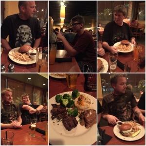 Middag på Tony Romas! Biff!!!