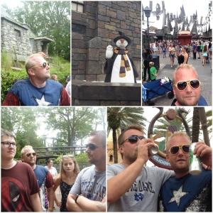 Så innom Wizarding World of Harry Potter igjen. Jan Bo og Kenneth koser seg med en kald øl.