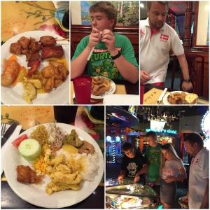 Middag på China Buffet!! MAAAAT!! Før kvelden blir avsluttet på Dave and Busters.