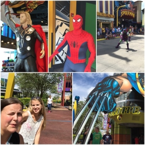 Thor!! <3 <3  Spiderman!  Green Goblin. Han skremte meg og Lisa. Vi satt med ryggen til og han kom å smelte et tau eller no i benken mellom oss... Djiises! Gutta og Wolverine sine klør..