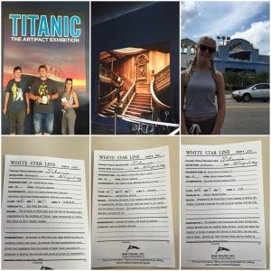 Så sendet vi kidsa på Titanic museum! Der fikk de boardingpass med ekte navn fra båten (de overlevde alle tre)